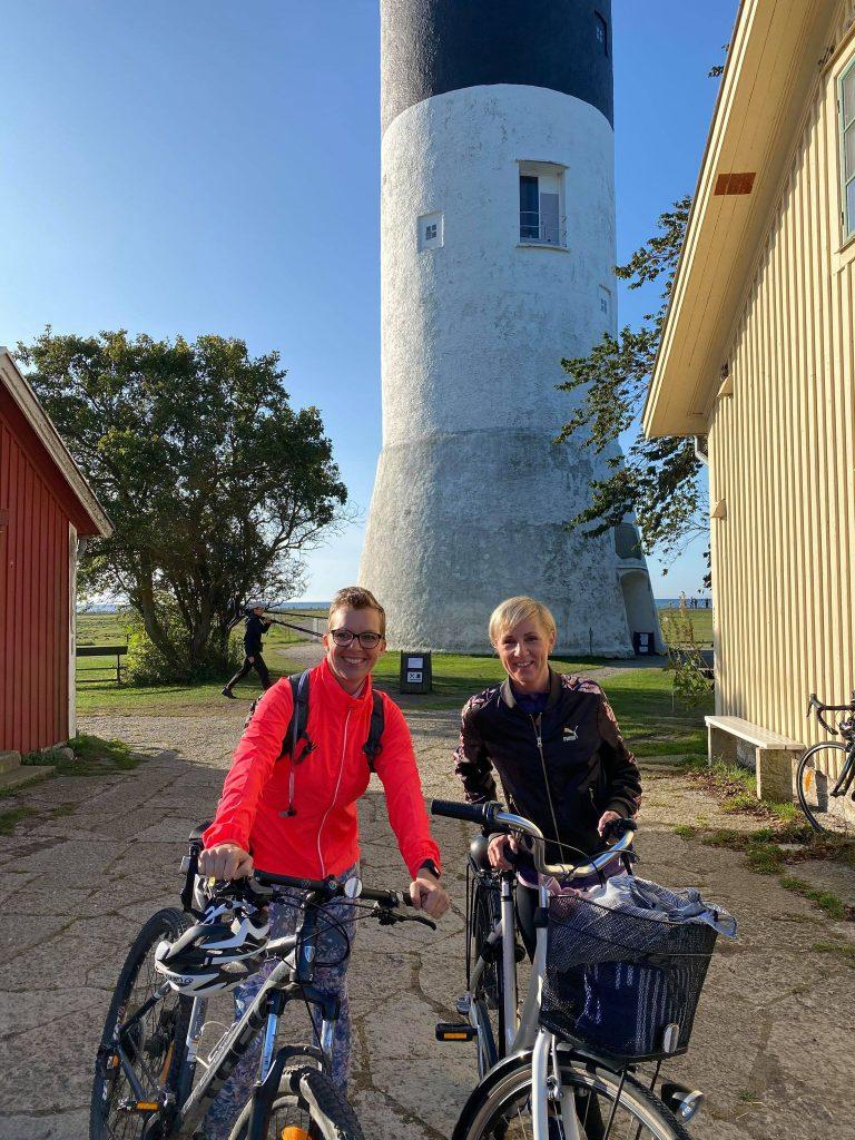Victoria och jag vid start fyren Långe Jan Ottenby